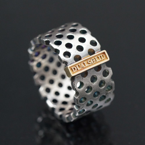 punching silver ring [DUALSOLID]