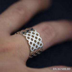 パンチングシルバーリング punching silver ring