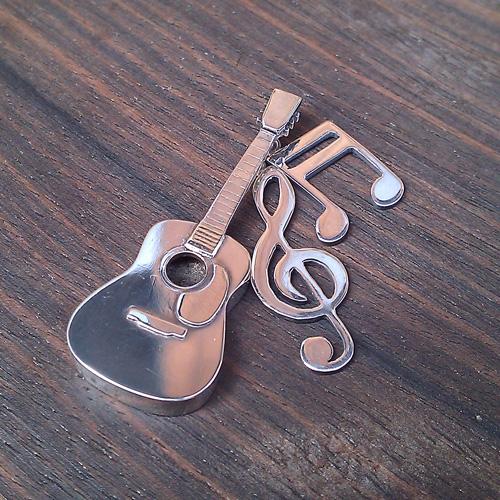 ギター&音符のペンダントトップ